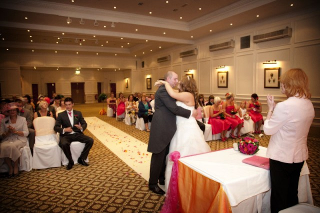 The wedding ceremony at The Dunkenhalgh