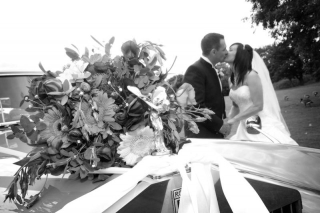 The new Mr & Mrs Gallacher at The Bolholt Hotel