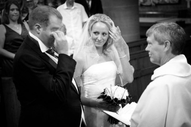 During the wedding ceremony