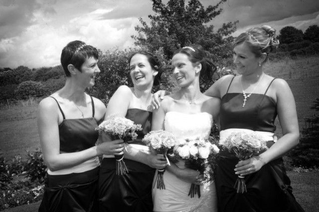 Fun with the bridesmaids at the Bolholt