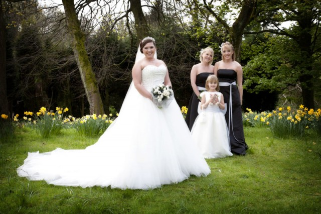 Bride & Bridesmaids at Edenfield Parish
