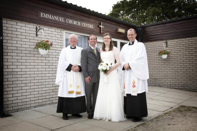 The first wedding at Canon Lewis Hall